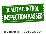 inspection passed grunge rubber ... | Shutterstock .eps vector #1058633939