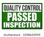inspection passed green sign... | Shutterstock .eps vector #1058633945