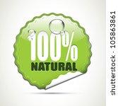 100  natural   glossy sticker   Shutterstock .eps vector #105863861
