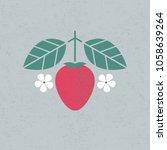strawberry illustration.... | Shutterstock .eps vector #1058639264