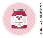 strawberry jam label and... | Shutterstock .eps vector #1058640227