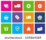 e commerce icon series in metro ... | Shutterstock .eps vector #105864389