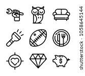 essentials icon set | Shutterstock .eps vector #1058645144
