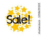 sale label or sign with star... | Shutterstock .eps vector #1058659205