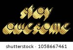 slogan graphic with dots | Shutterstock . vector #1058667461
