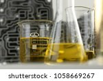 test tube chemistry flask... | Shutterstock . vector #1058669267