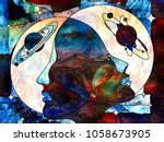 stained glass forever series.... | Shutterstock . vector #1058673905