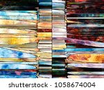 stained glass forever series....   Shutterstock . vector #1058674004