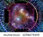 structure of dimensions series. ... | Shutterstock . vector #1058674445