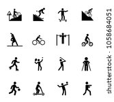 training icon set. can be used... | Shutterstock .eps vector #1058684051