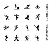 sport icon set. can be used for ... | Shutterstock .eps vector #1058684381