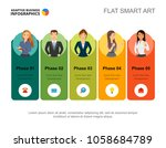 five phase infographics. step... | Shutterstock .eps vector #1058684789