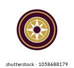 compass logo design | Shutterstock .eps vector #1058688179