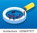 financial risk monitoring | Shutterstock .eps vector #1058697977