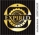 expired gold emblem or badge | Shutterstock .eps vector #1058714159