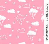 hand drawn seamless pattern... | Shutterstock .eps vector #1058716679