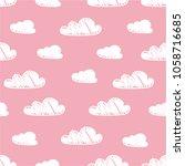 hand drawn seamless pattern... | Shutterstock .eps vector #1058716685