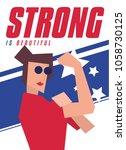 """strong is beautiful"" modern... | Shutterstock .eps vector #1058730125"