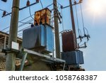 under the background of lanse ... | Shutterstock . vector #1058768387