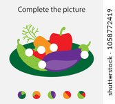 complete the puzzle and find... | Shutterstock .eps vector #1058772419