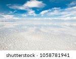 salt flat salar de uyuni ... | Shutterstock . vector #1058781941