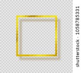 gold foil smudge frame. yellow... | Shutterstock .eps vector #1058785331