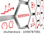 mentoring concept cell blurred... | Shutterstock . vector #1058787581