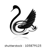 Abstract Vector Black Swan...