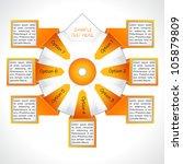 business presentation diagram....   Shutterstock .eps vector #105879809