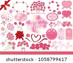 set of assorted graphic... | Shutterstock .eps vector #1058799617