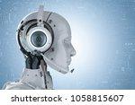 3d rendering humanoid robot... | Shutterstock . vector #1058815607