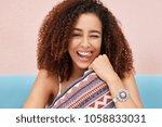 candid shot of funny dark...   Shutterstock . vector #1058833031