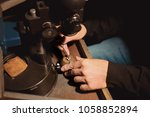 jeweler working on ring  closeup   Shutterstock . vector #1058852894