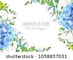 summer botanical vector design... | Shutterstock .eps vector #1058857031