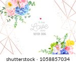 stylish geometric wedding... | Shutterstock .eps vector #1058857034