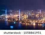 stonecutters bridge  hong kong... | Shutterstock . vector #1058861951