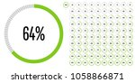 set of circle percentage... | Shutterstock .eps vector #1058866871