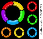 second set of colored arrows.... | Shutterstock .eps vector #105886799