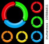 set of four colored arrows.... | Shutterstock .eps vector #105886811