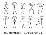 Man Drawn  Different Poses ...