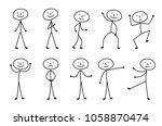 man drawn  different poses ... | Shutterstock . vector #1058870474