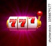 Stock vector slots casino jackpot modern light gold vector illustration 1058879177