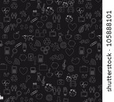 black and white icons... | Shutterstock .eps vector #105888101