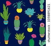 seamless pattern with colorful... | Shutterstock .eps vector #1058891621