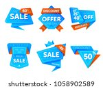 special offer sale tag discount ... | Shutterstock . vector #1058902589