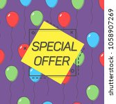 special offer emblem and... | Shutterstock .eps vector #1058907269