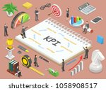 key performance indicator flat... | Shutterstock .eps vector #1058908517