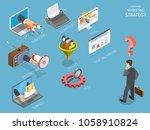 choosing marking strategy flat... | Shutterstock . vector #1058910824