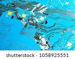electronic circuit board close... | Shutterstock . vector #1058925551