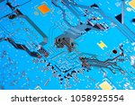 electronic circuit board close... | Shutterstock . vector #1058925554